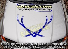 HDA103 Hood Accent Graphic Decal