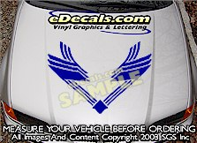 HDA104 Hood Accent Graphic Decal