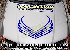 HDA105 Hood Accent Graphic Decal