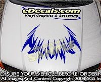 HDA107 Tribal Hood Accent Graphic Decal
