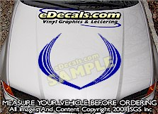 HDA108 Hood Accent Graphic Decal