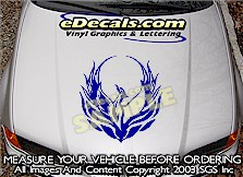 HDA109 Tribal Hood Accent Graphic Decal