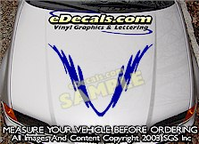 HDA110 Hood Accent Graphic Decal