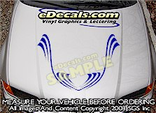 HDA111 Hood Accent Graphic Decal