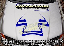 HDA113 Hood Accent Graphic Decal