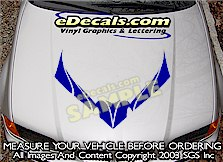 HDA116 Hood Accent Graphic Decal