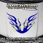 HDA117 Flames Hood Accent Graphic Decal