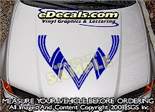 HDA118 Hood Accent Graphic Decal