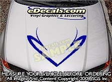 HDA120 Hood Accent Graphic Decal