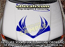HDA121 Hood Accent Graphic Decal