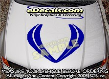 HDA122 Hood Accent Graphic Decal