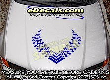 HDA123 Checkered Hood Accent Graphic Decal