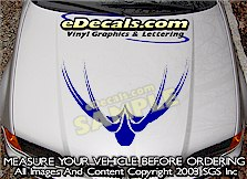 HDA124 Hood Accent Graphic Decal