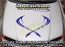 HDA126 Hood Accent Graphic Decal