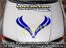 HDA128 Hood Accent Graphic Decal