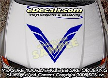 HDA129 Hood Accent Graphic Decal