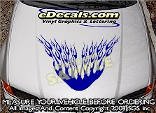 HDA130 Flames Hood Accent Graphic Decal