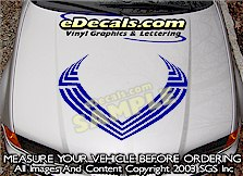 HDA133 Hood Accent Graphic Decal