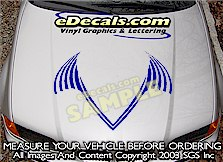HDA138 Hood Accent Graphic Decal