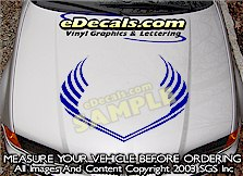 HDA139 Hood Accent Graphic Decal