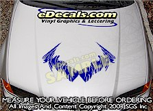 HDA140 Tribal Hood Accent Graphic Decal
