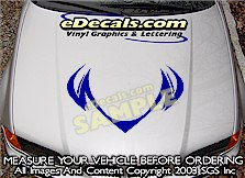 HDA141 Hood Accent Graphic Decal