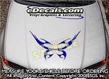 HDA142 Tribal Hood Accent Graphic Decal