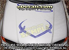 HDA145 Hood Accent Graphic Decal