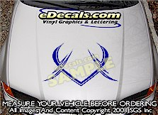 HDA146 Hood Accent Graphic Decal