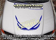 HDA147 Hood Accent Graphic Decal