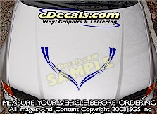 HDA148 Hood Accent Graphic Decal
