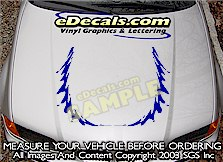 HDA150 Tribal Hood Accent Graphic Decal