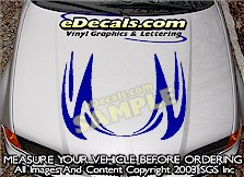 HDA151 Hood Accent Graphic Decal