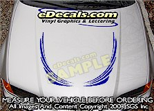 HDA153 Hood Accent Graphic Decal