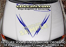 HDA154 Tribal Hood Accent Graphic Decal