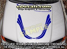 HDA155 Hood Accent Graphic Decal