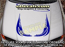HDA156 Tribal Hood Accent Graphic Decal