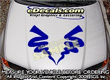HDA158 Hood Accent Graphic Decal