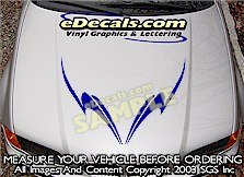 HDA160 Tribal Hood Accent Graphic Decal