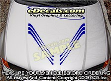 HDA161 Hood Accent Graphic Decal