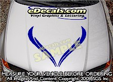 HDA162 Hood Accent Graphic Decal