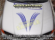 HDA167 Hood Accent Graphic Decal