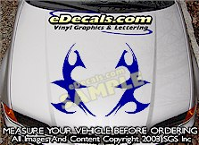 HDA168 Tribal Hood Accent Graphic Decal
