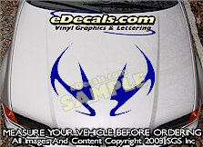HDA169 Tribal Hood Accent Graphic Decal