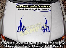 HDA170 Tribal Hood Accent Graphic Decal