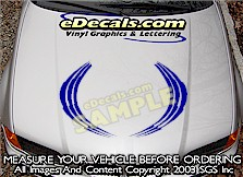 HDA171 Hood Accent Graphic Decal