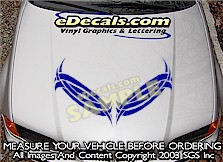 HDA174 Hood Accent Graphic Decal