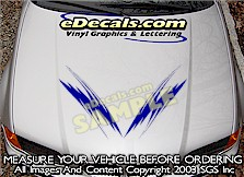 HDA175 Hood Accent Graphic Decal