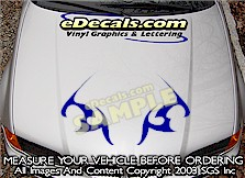 HDA180 Tribal Hood Accent Graphic Decal