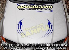 HDA182 Tribal Hood Accent Graphic Decal